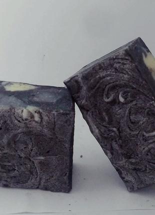 """Мыло натуральное с черной глиной и углем """" Тенерифе"""""""
