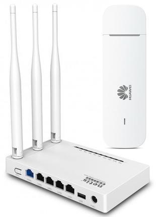 4G комплект Huawei E3372h320 + Wi-Fi роутер Netis MW5230 USB