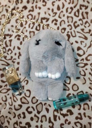 Плюшевая сумка кролик