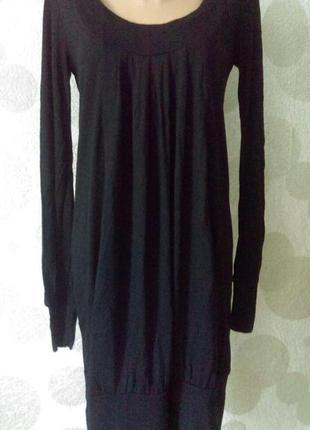 Стильное трикотажное платье с карманами,скидка 30% на вторую вещь