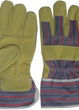 Перчатки рабочие кожаные, спилок