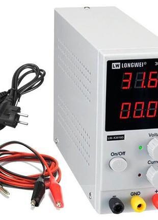 Блок питания лабораторный 0-30В 0-10А LONGWEI LW-K3010D, 101156