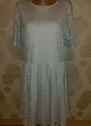 Красивое вечернее платье с прозрачной спинкой большого размера