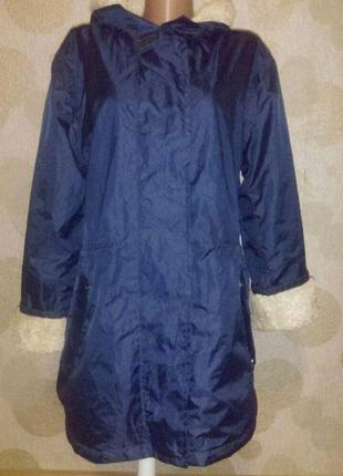 Ветровка куртка дождевик  с плюшевой подкладкой большого размера