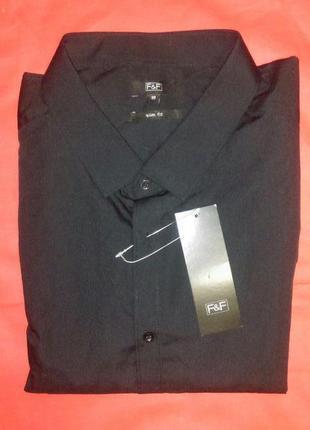 Стильная рубашка  сорочка   черная   ,большого размера