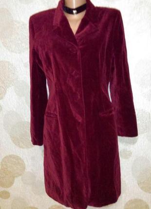 Винтажное  бархатное платье пиджак  миди  красное     оригинал...