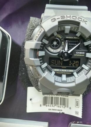 Часы Casio G-shock GA-700UC-8A в сером цвете, новые, оригинал