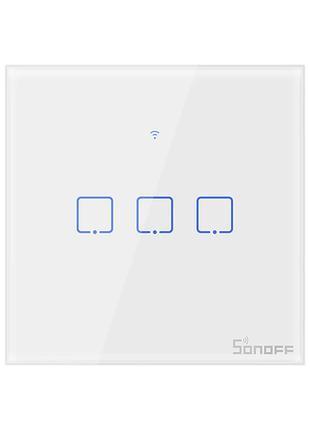 Sonoff T1 умный сенсорный настенный wifi выключатель на 3 кноп...