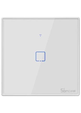 Sonoff T2 умный сенсорный настенный wifi выключатель на 1 кноп...