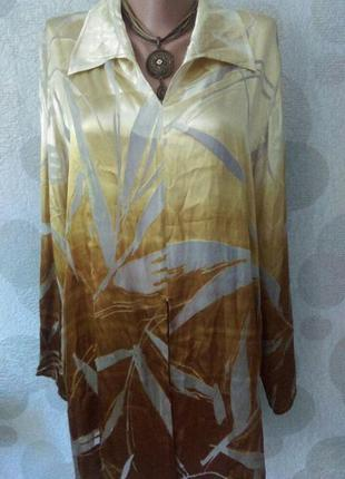 Шелковая легкая туника блуза