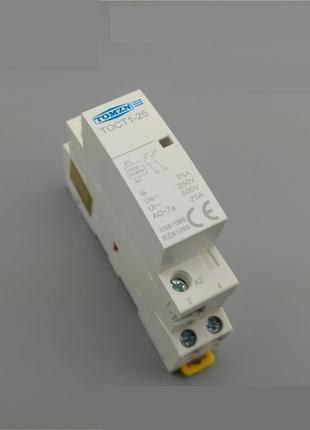 Модульный контактор 25 Ампер 2х-контактный 220 Вольт на Din-ре...