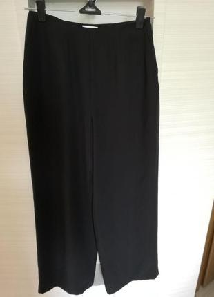 Шелковые брюки кюлоты с завышенной талией маленький размер