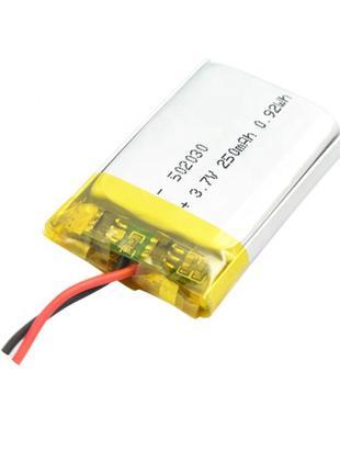 Аккумулятор 250mAh 3.7v 502030 для видеорегистраторов, кейсов ...