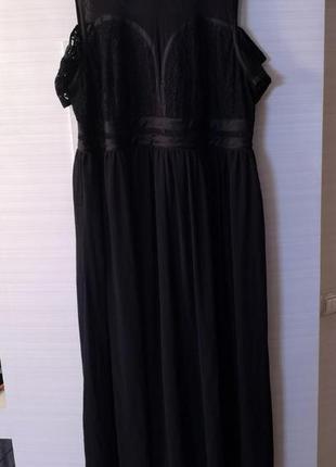 Шикарное вечернее платье в пол большого размера