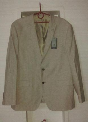 Льняной модный  пиджак  блейзер