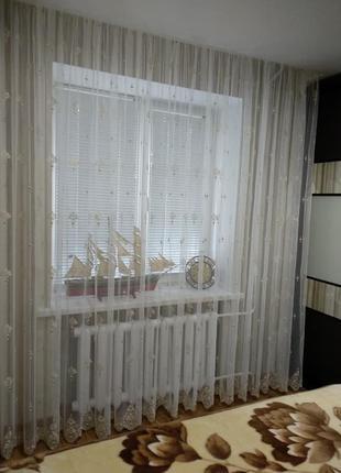 Тюль-сетка в гостиную и спальню