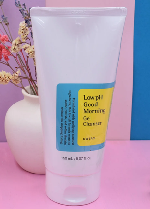 Гель-пенка с вна-кислотами cosrx low ph good morning gel cleanser