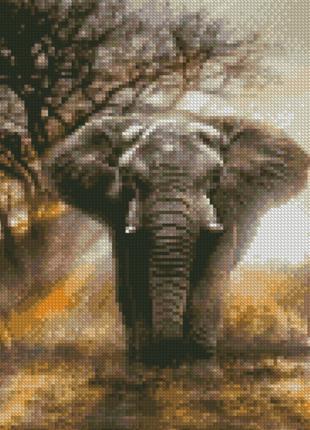 "Алмазная мозаика ""Могучий слон"" HX205 30*40 см"