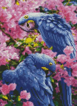 "Алмазная мозаика ""Яркие попугаи"" HX217 30*40 см"