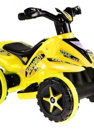 Квадроцикл на акумуляторі 6V жовтий MK1461