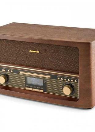 Аудиосистема Ретро Auna проигрователь музыкальный центр BT CD ...