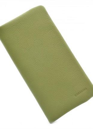 Кожаный кошелек - зелёный