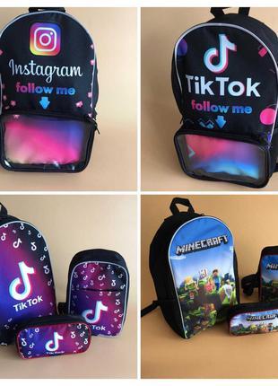 Шкільні рюкзаки, сумки, пенали для школи Тик ток, Інстаграм, М...