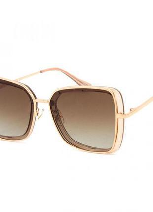 Солнцезащитные женские очки polar 3235 цвета шампань квадратные