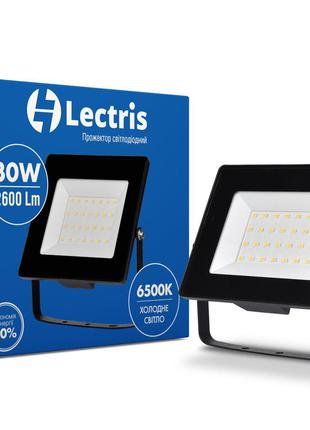 Lectris LED30W 2600Лм 6500K светодиодный прожектор 185-265V IP...