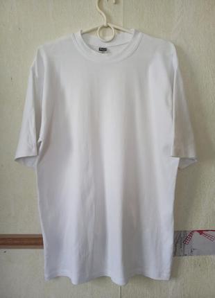 Белая базовая натуральная футболка