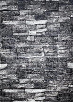 Самоклеящаяся декоративная 3D панель под кирпич серый песчаник...