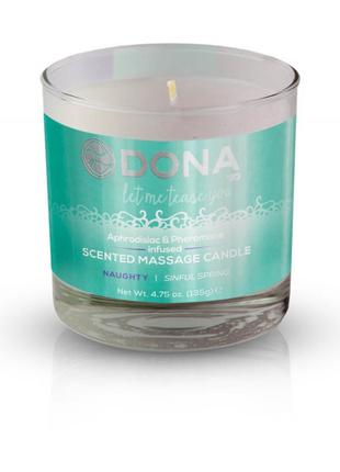 Массажная свеча DONA Scented Massage Candle Sinful Spring NAUG...