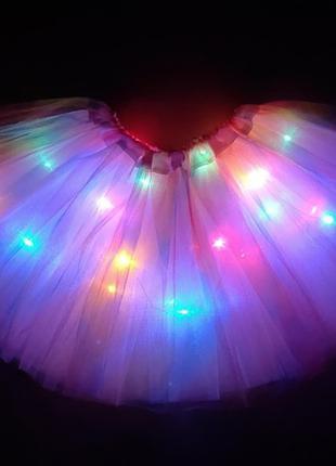Юбка пачка светодиодная детская Мультицвет