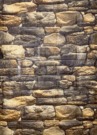 Самоклеящаяся декоративная 3D панель под камень матовый 700х77...