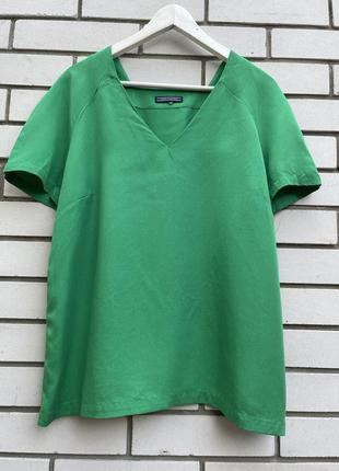 Зелёная блузка топ футболка лиоцел tommy hilfiger