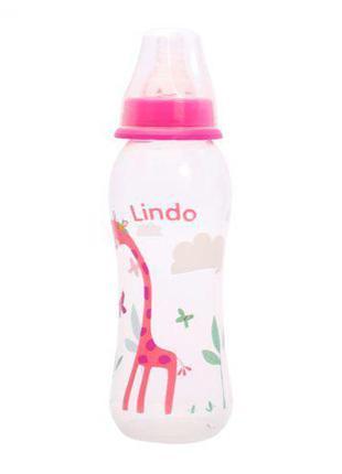 Бутылочка для кормления, 250 мл, розовая Li 145