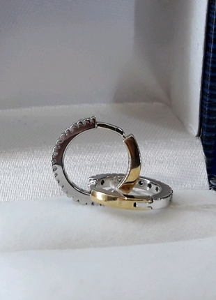 Золотые серьги кольца колечки с бриллиантами