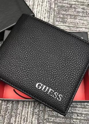 Мужской кожаный кошелек guess в подарочной упаковке (арт. ко-019)