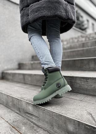 Скидка 500 грн! шикарные женские зимние ботинки timberland kha...