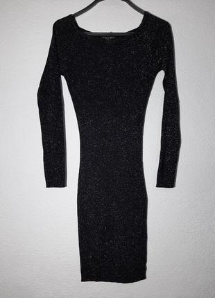 Нарядное платье миди по фигуре с люрексом