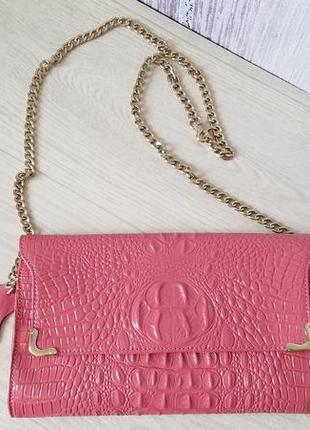 Кожаная женская сумка клатч.
