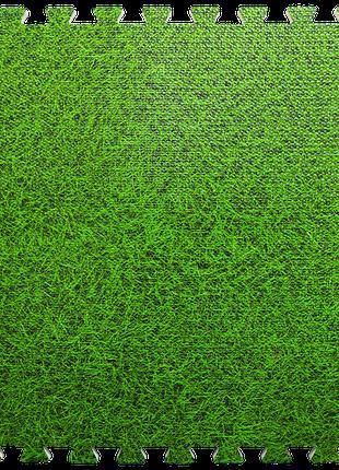 Мягкий пол-пазл, модульное напольное покрытие Зеленая трава 60...