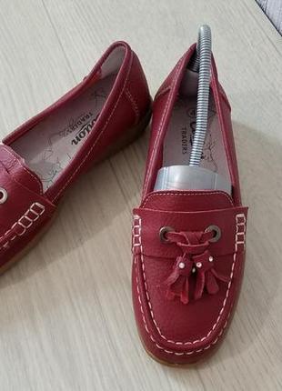 Cotton traders кожаные женские туфли мокасины лоферы р.36 (23,...