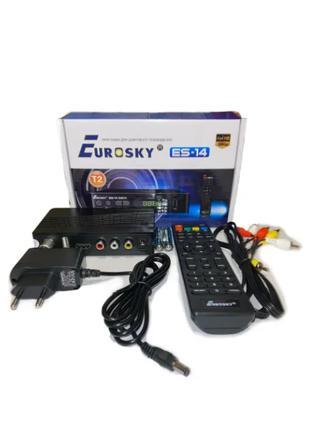 Ресивер Eurosky ES-14 цифровой эфирный DVB-T2 тюнер FullHD, IP...