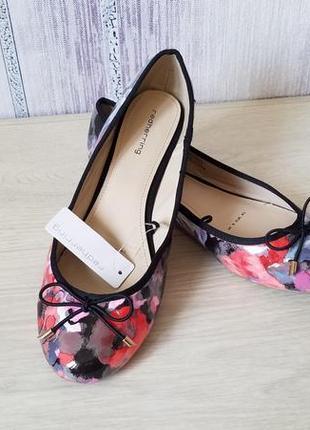 Red herring женские туфли балетки с цветочным принтом.