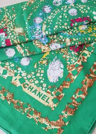 Chanel шелковый большой платок. оригинал.