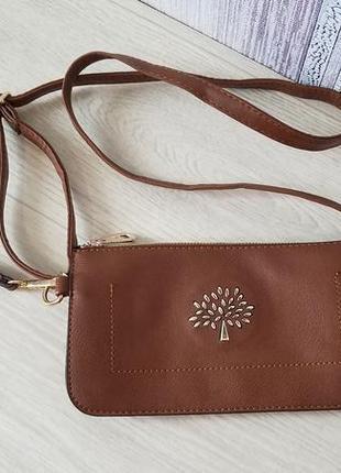 Женская сумка 2в1 клач через плечо.
