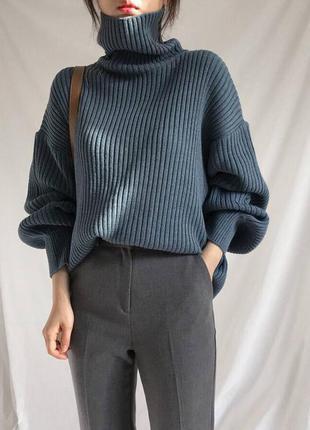 Стильный вязаный свитер с горловиной белый голубой кофейный 🔥