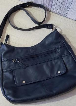 Кожаная  женская сумка кроссбоди, через плечо.