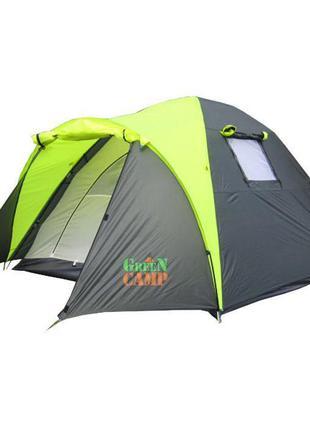 Палатка трехместная для туризма Green Camp 1011